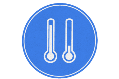 climate services blue icon